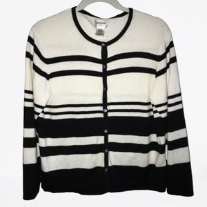 Liz Baker Striped Cardigan Size Large